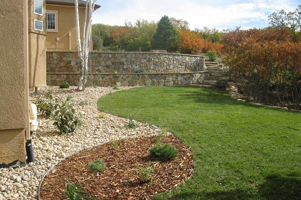 Backyard Retaining Wall - Denver, CO