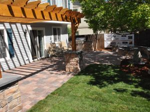 Custom Patio with Gas Firepit and Pergola - Castle Rock, CO
