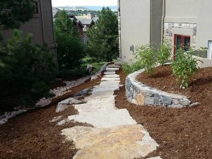 Flagstone Walkway and Retaining Wall - Castle Rock, CO