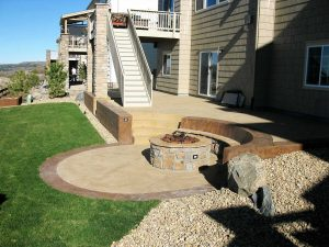 Outdoor Firepit and Patio with Bench - Castle Rock, CO