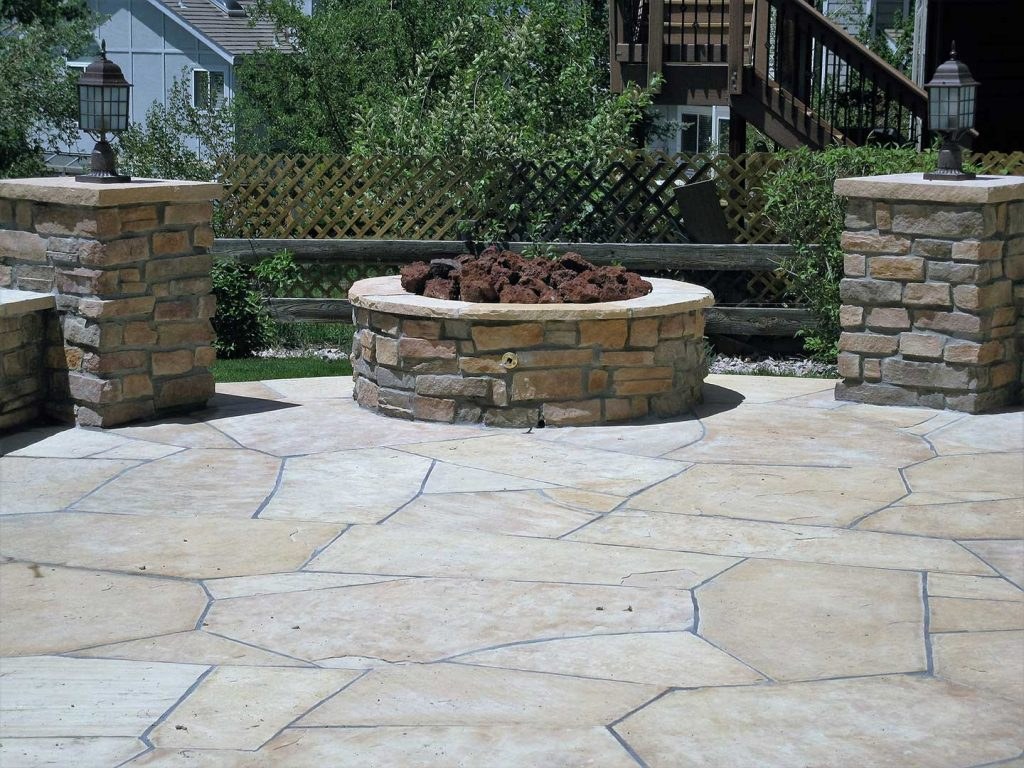 Gas Firepit and Custom Patio Lighting - Castle Rock, CO