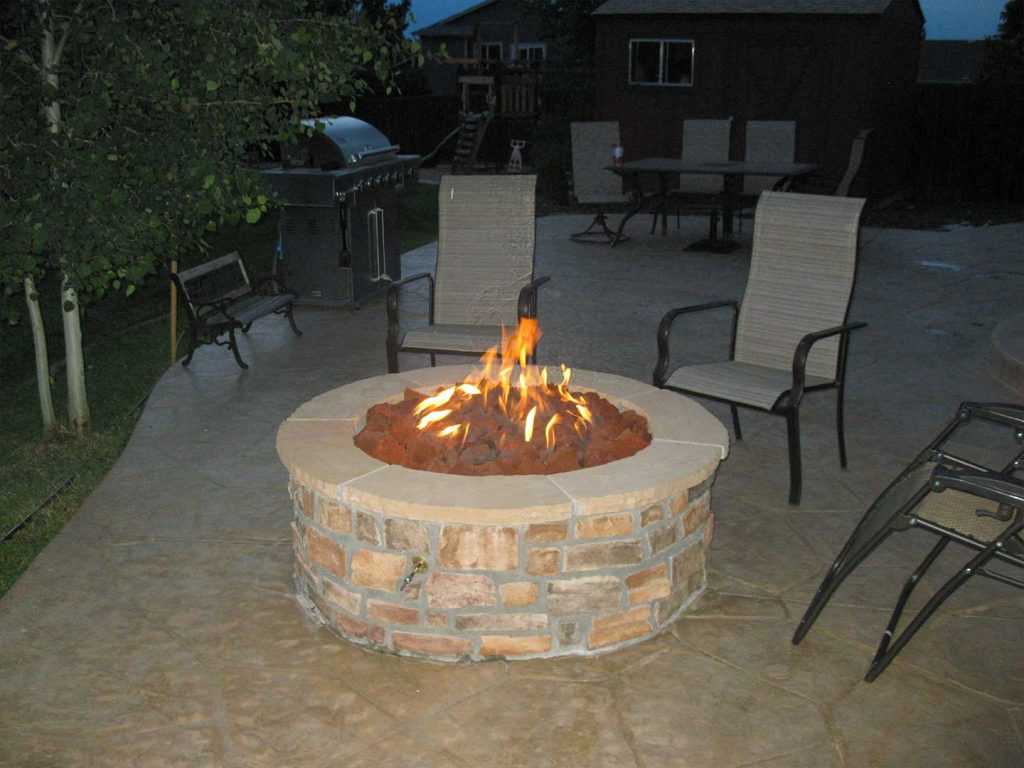 Custom Patio with Gas Firepit - Castle Rock, CO
